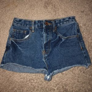 Forever 21 high waisted medium wash shorts